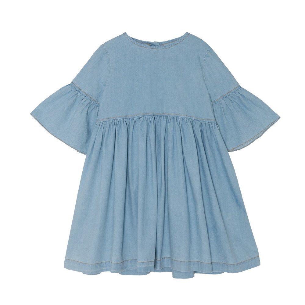 【SALE 30%OFF】Flow dress Stone Washed Denim img