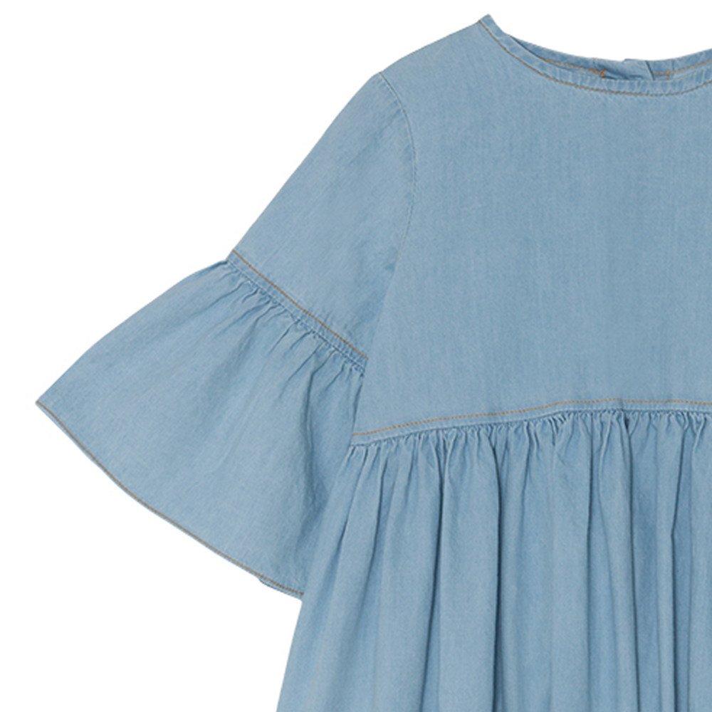 【SALE 30%OFF】Flow dress Stone Washed Denim img1