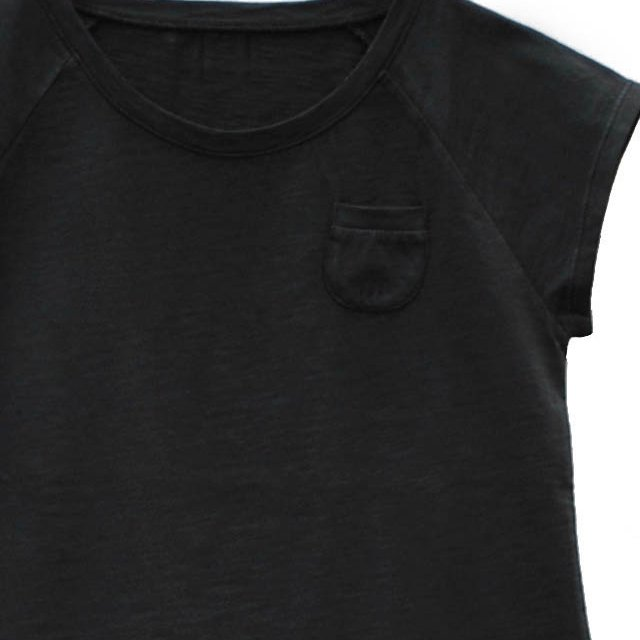 【SALE 30%OFF】CHIC Tee 100% cotton Black Sand img1