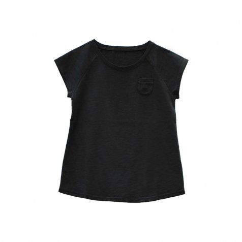 【SUMMER SALE 50%OFF】CHIC Tee 100% cotton Black Sand