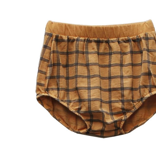 【SALE 30%OFF】CHOU CHECK Bloomer 100% cotton Melon img1