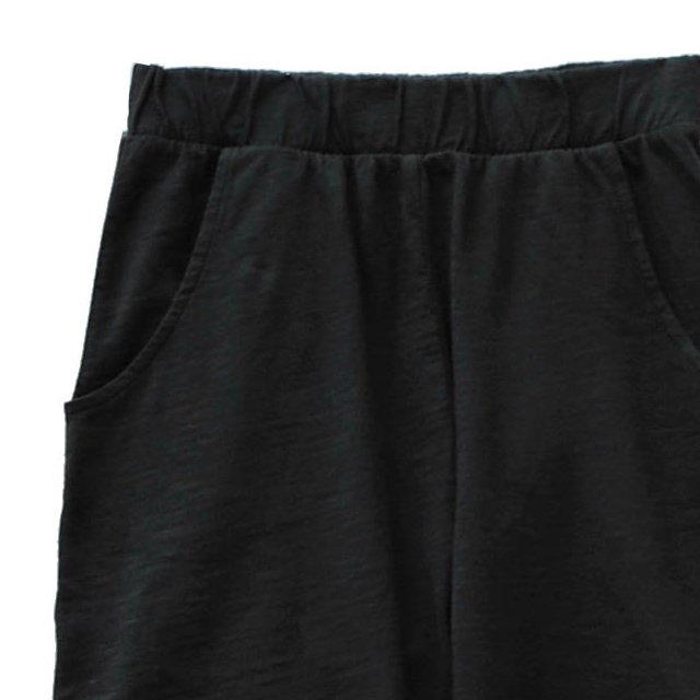 【SALE 30%OFF】HIDO shorts 100% cotton Black Sand img1