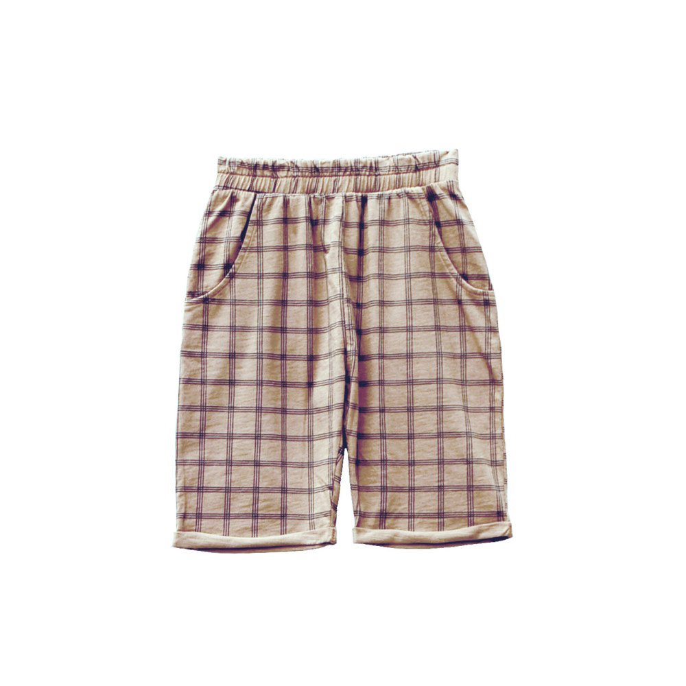 【SUMMER SALE 50%OFF】HIDO CHECK shorts 100% cotton Pierre img