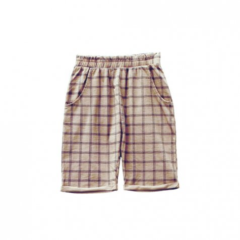 HIDO CHECK shorts 100% cotton Pierre