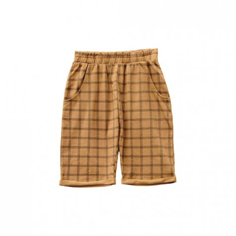 HIDO CHECK shorts 100% cotton Melon