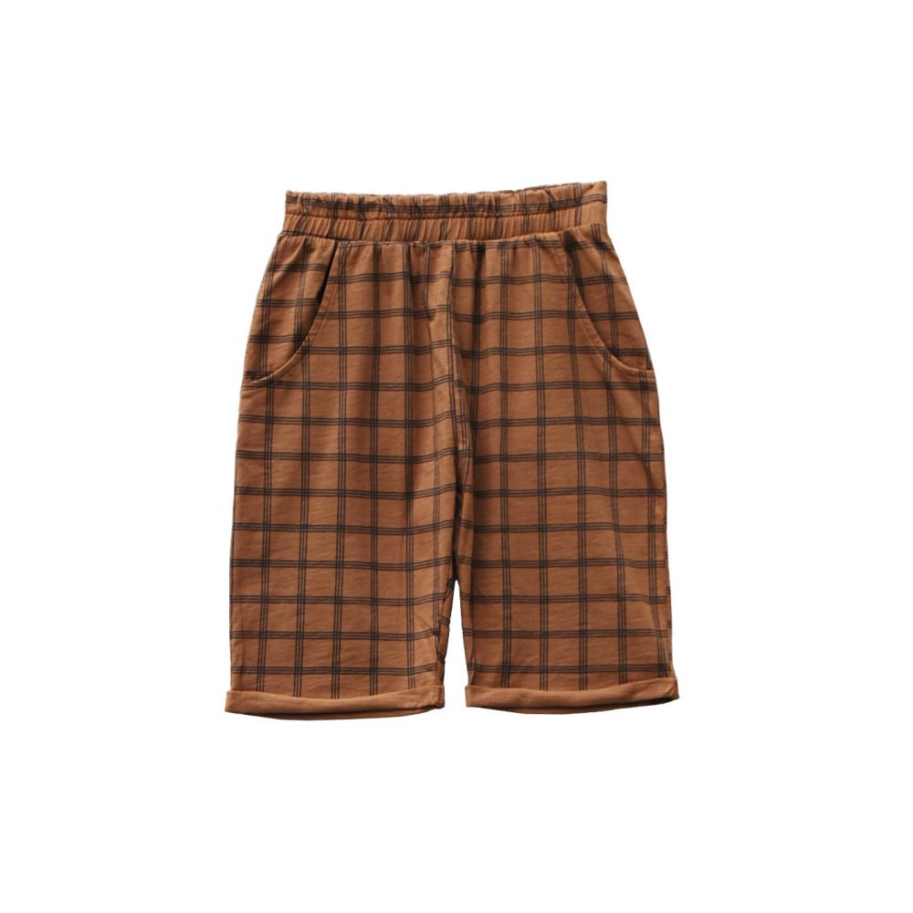 【60%OFF】HIDO CHECK shorts 100% cotton Arizona img
