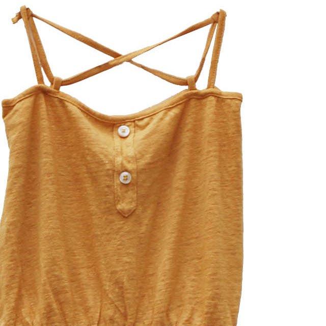【WINTER SALE 40%OFF】GINA Dress 100% linen Melon img1