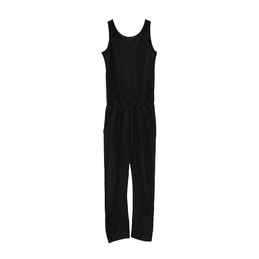 【40%OFF→50%OFF】COMBICHINO One Piece 100% linen Black Sand img