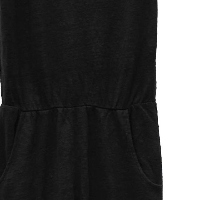 【40%OFF→50%OFF】COMBICHINO One Piece 100% linen Black Sand img1