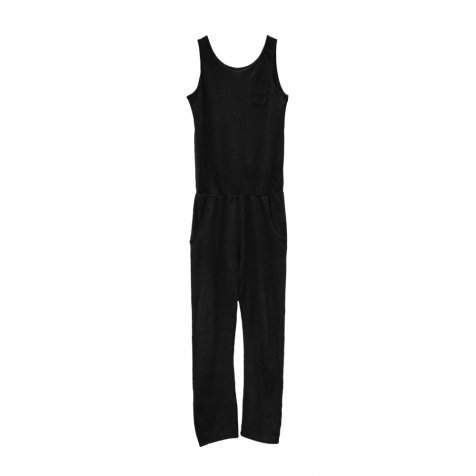 【SUMMER SALE 50%OFF】COMBICHINO One Piece 100% linen Black Sand