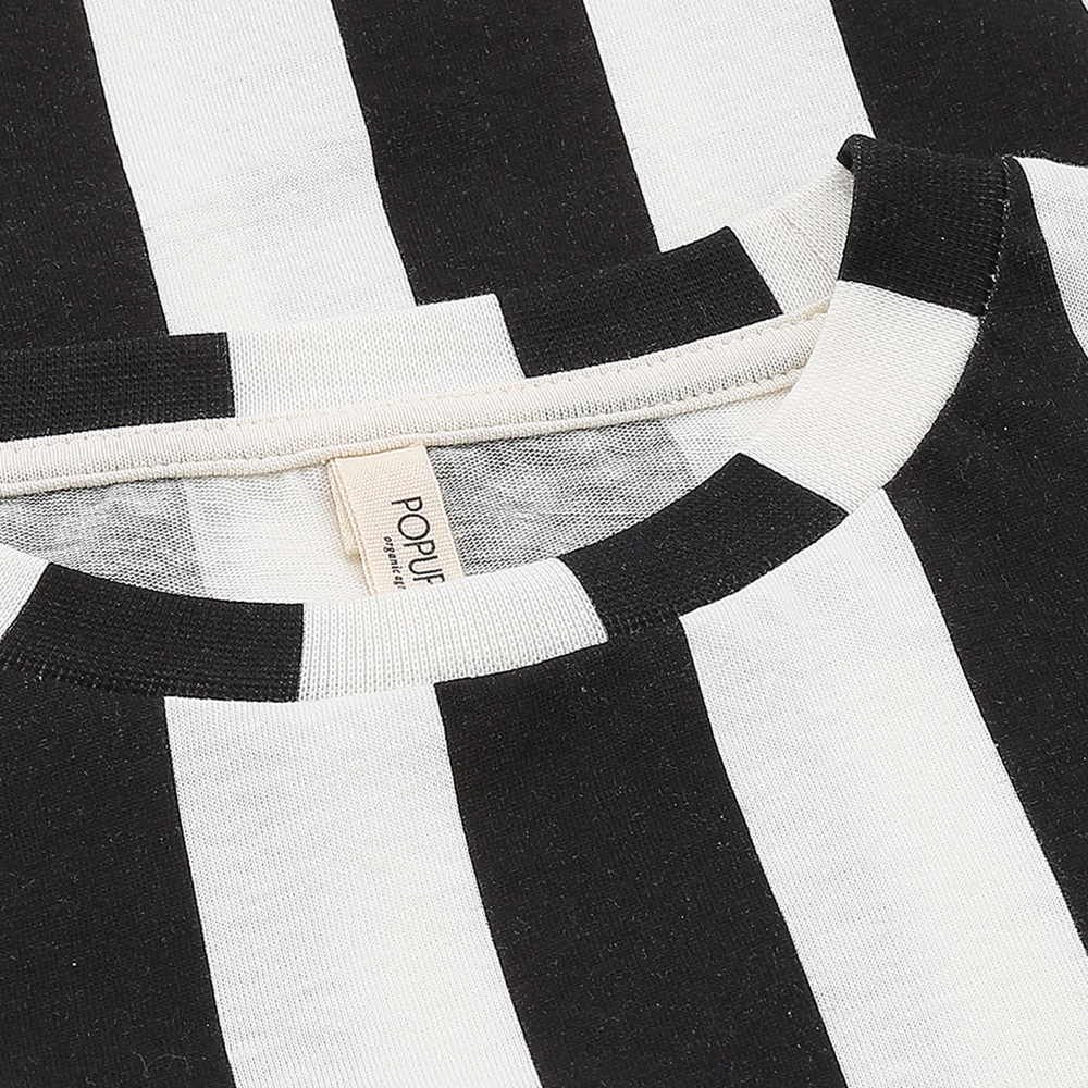 LOOSE TEE SS STRIPES BLACK / WHITE img1