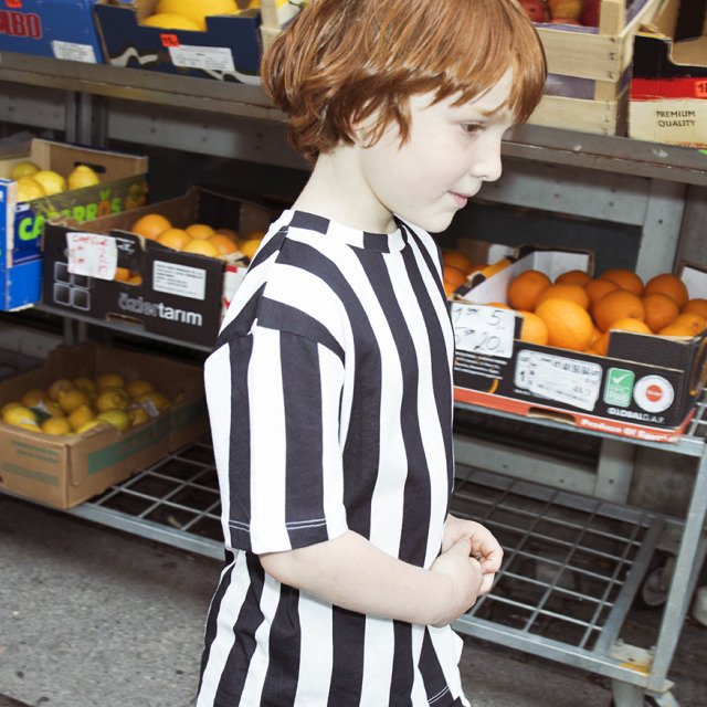 LOOSE TEE SS STRIPES BLACK / WHITE img4
