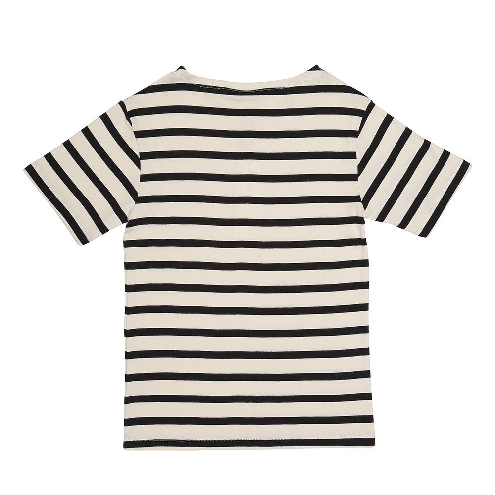 【SALE 30%OFF】MARITIME TEE SS STRIPE OFF / NAVY img2