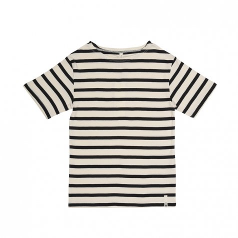 【50%OFF】MARITIME TEE SS STRIPE OFF / NAVY