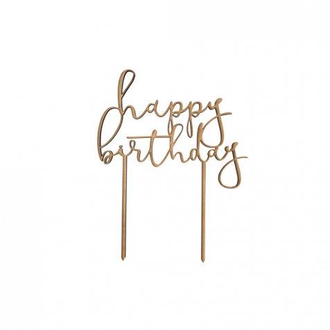 【2月4日22時再販決定】happy birthday ケーキトッパーハッピーバースデー