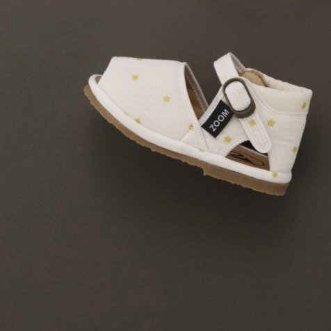 Check & Stripe Star Sandal GOLD