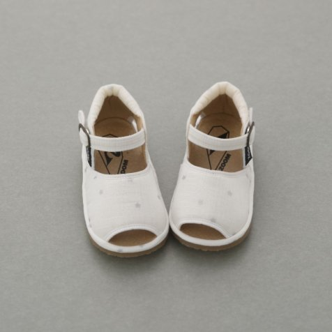 Check & Stripe Star Sandal SILVER