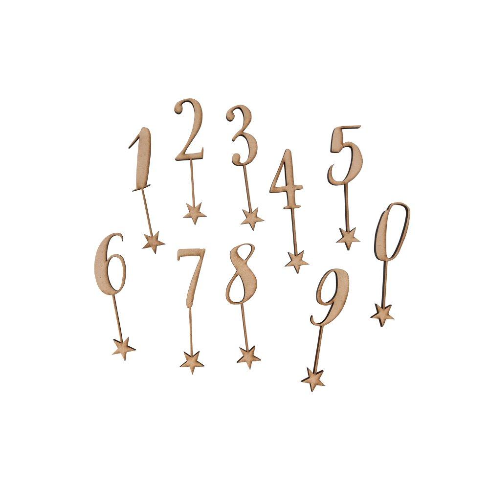 number 0-9 sets 木製ナンバートッパーセット img