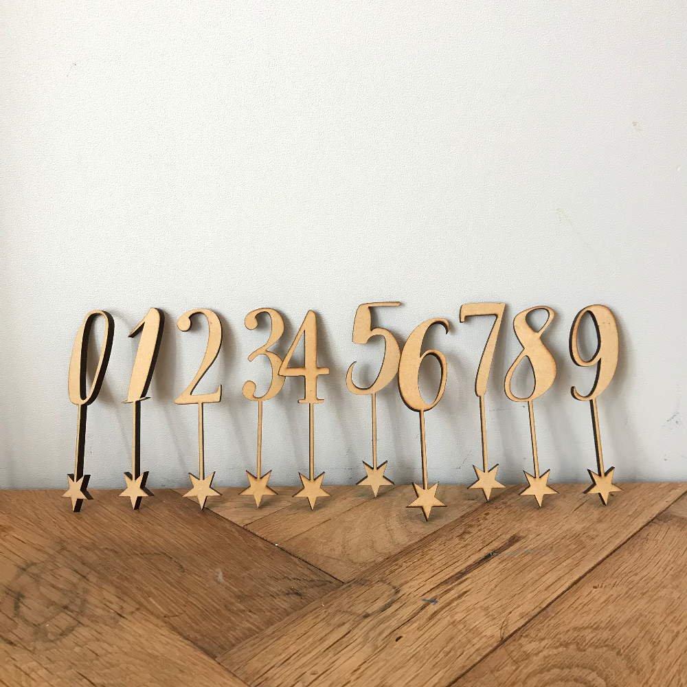 number 0-9 sets 木製ナンバートッパーセット img4
