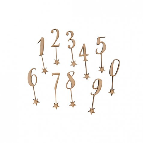 number 0-9 sets 木製ナンバートッパーセット