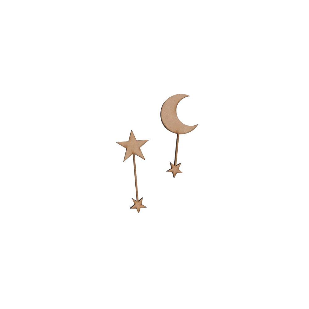 moon & star 木製トッパーセット img