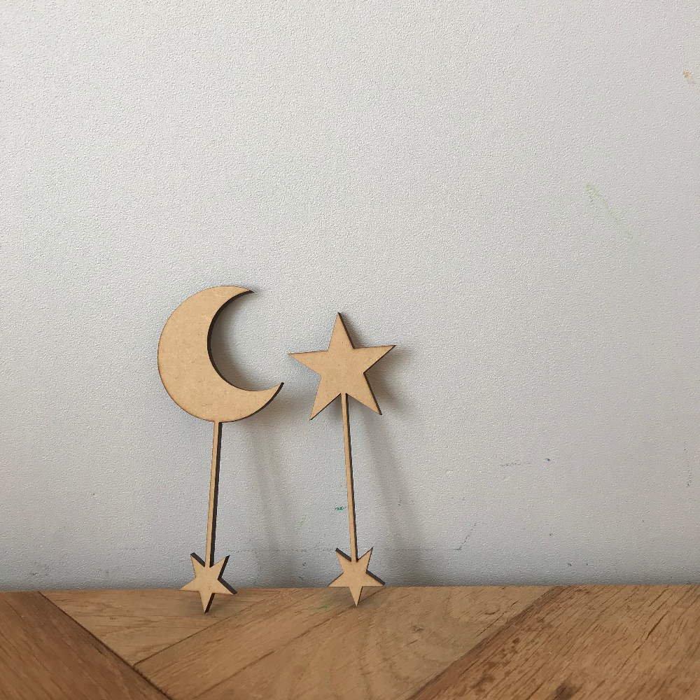 moon & star 木製トッパーセット img2