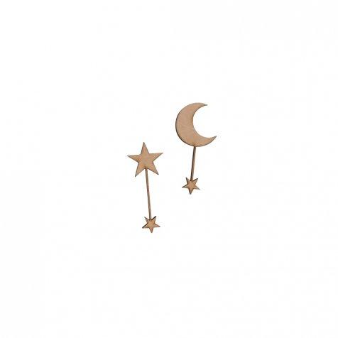 moon & star 木製トッパーセット