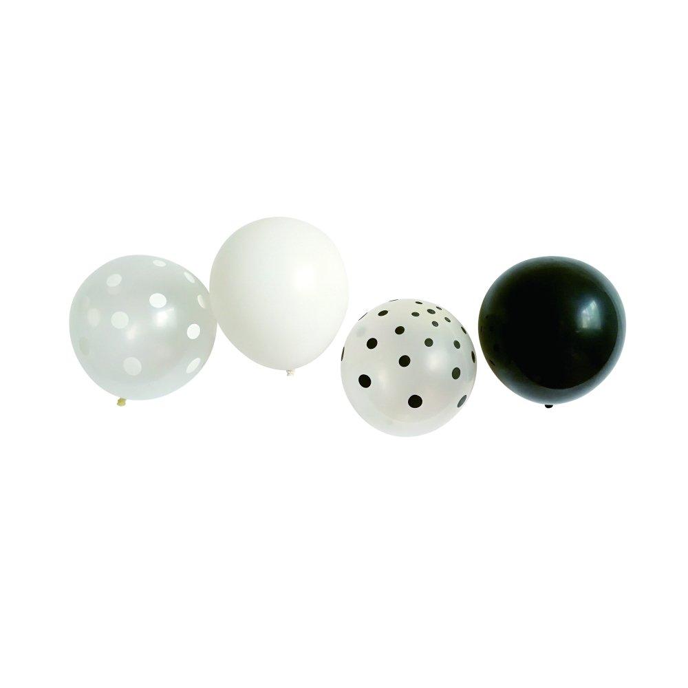 Balloon Black x White Mix 10pcs img