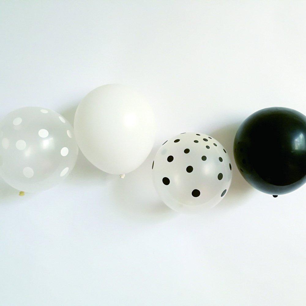 Balloon Black x White Mix 10pcs img1