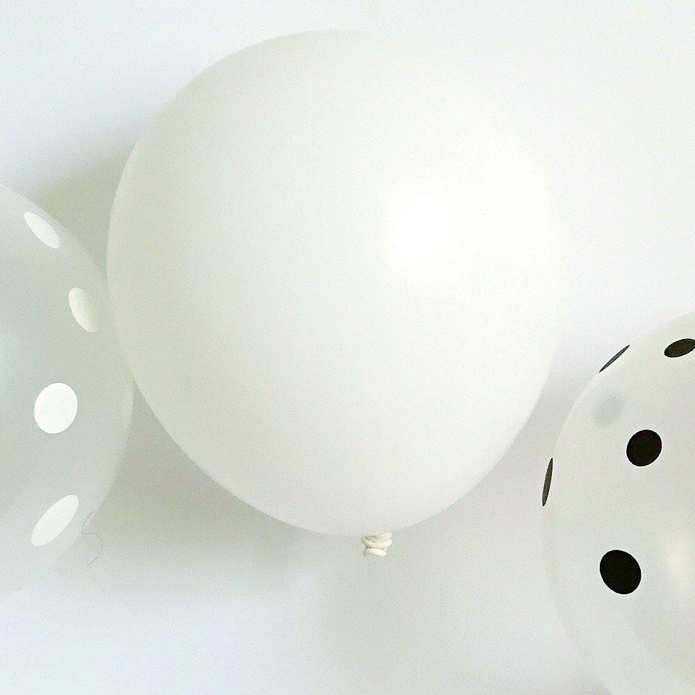 Balloon Black x White Mix 10pcs img3