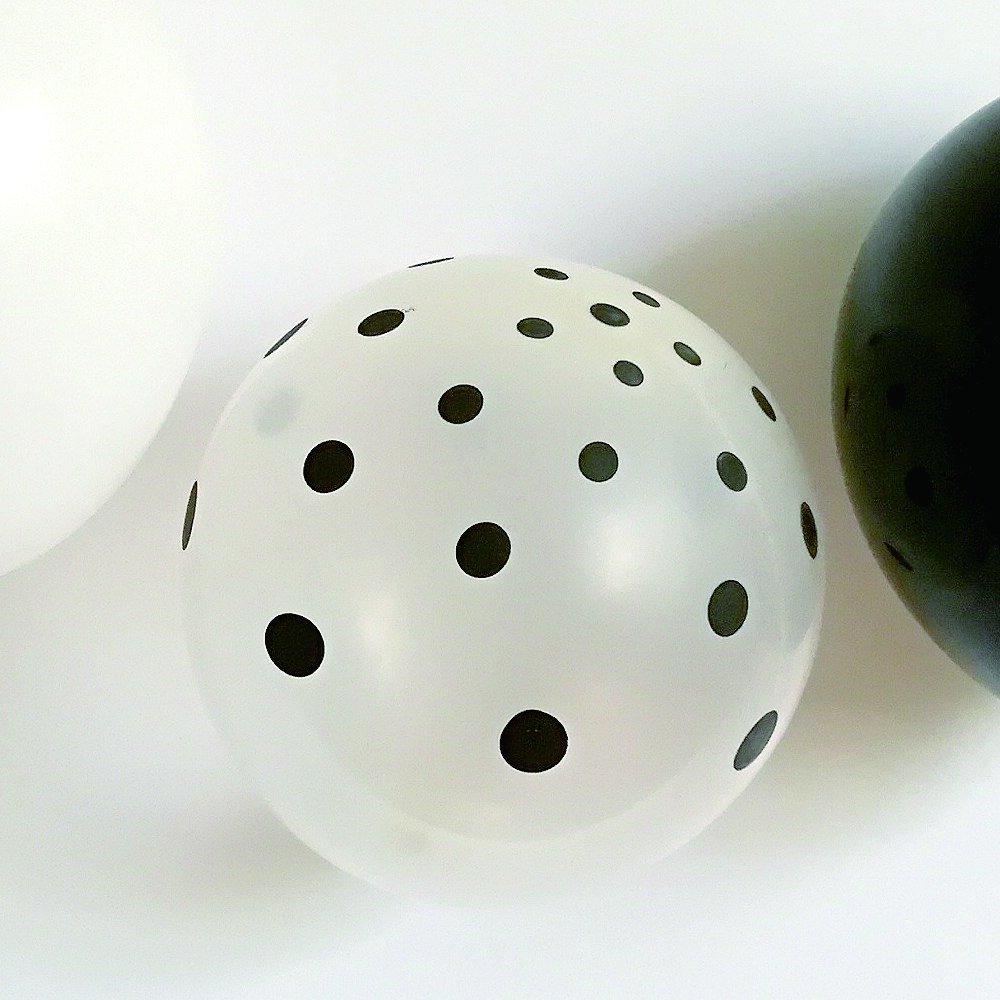 Balloon Black x White Mix 10pcs img4