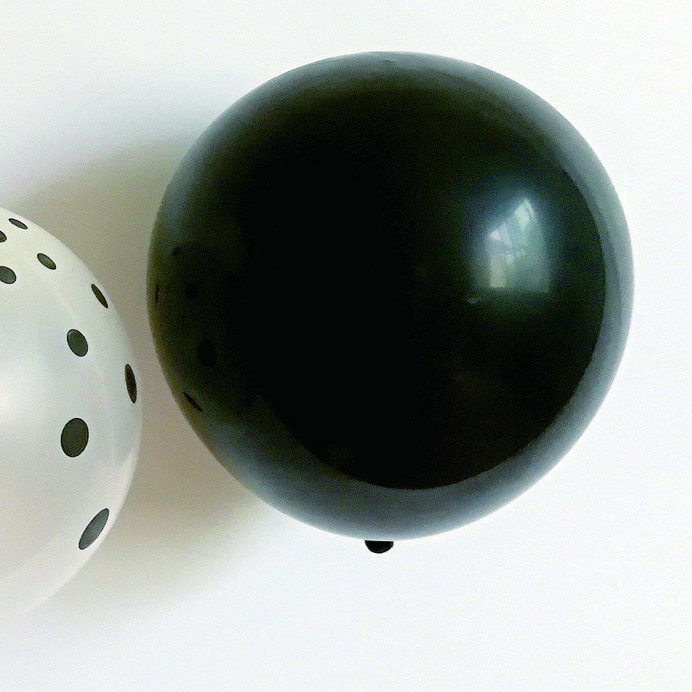 Balloon Black x White Mix 10pcs img5