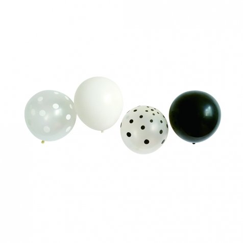 Balloon Black x White Mix 10pcs