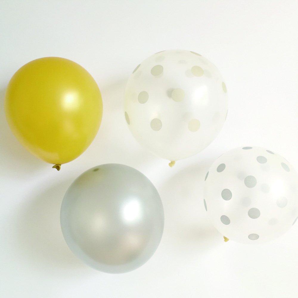 Balloon Gold x Silver Mix 10pcs img1