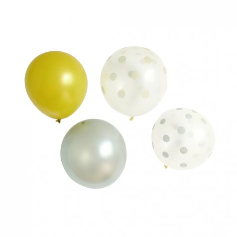 Balloon Gold x Silver Mix 10pcs