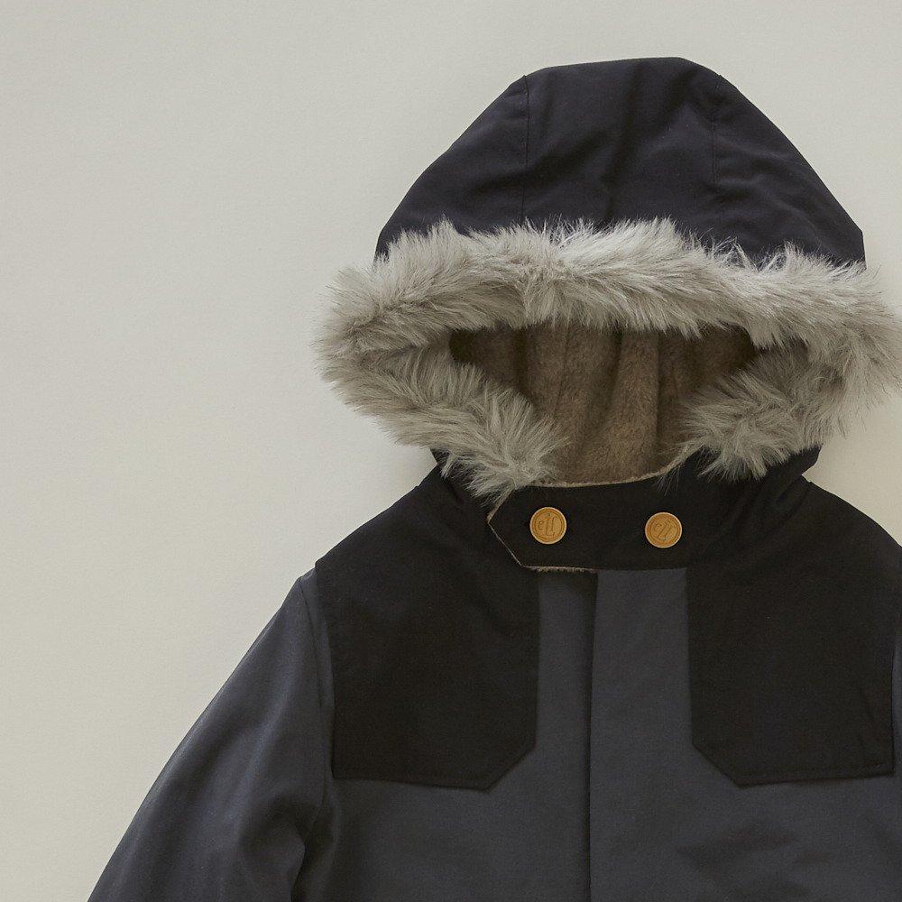 【入荷前ご予約販売】【9月末入荷予定】high-lander coat charcoal grey img1