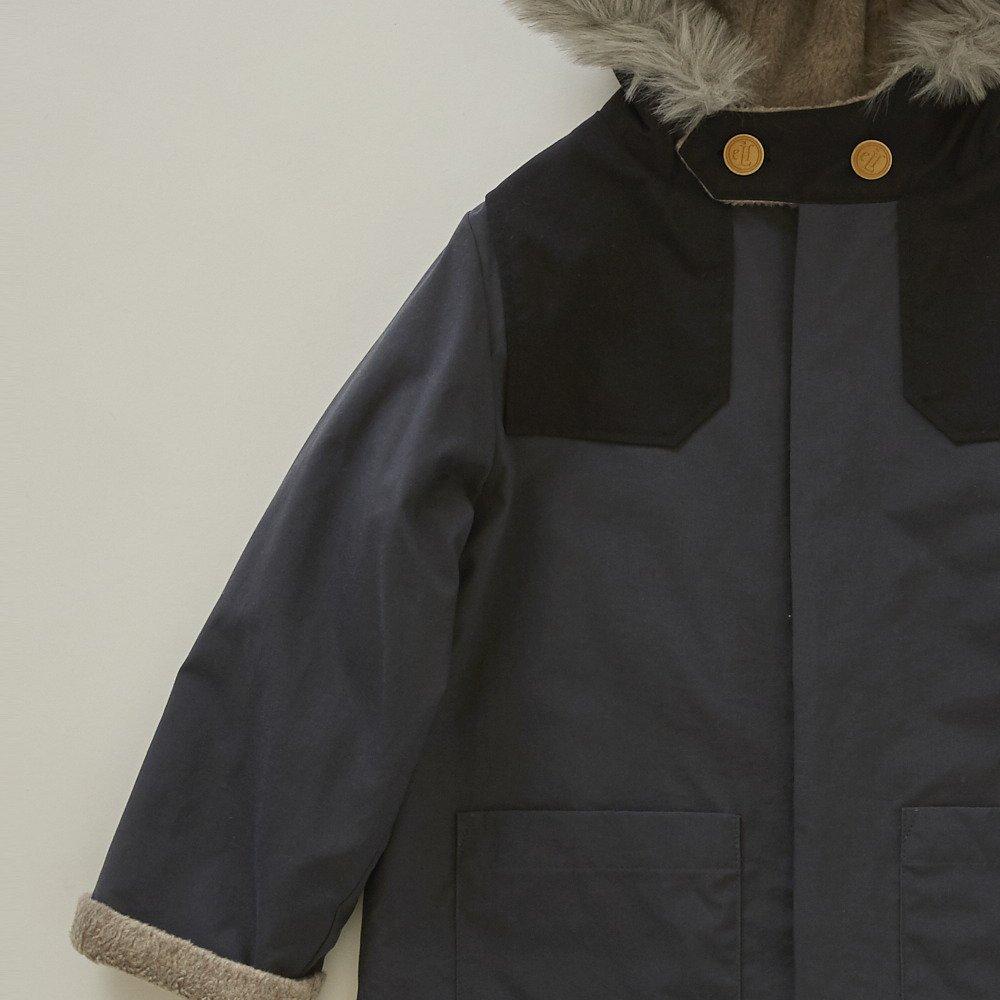 【入荷前ご予約販売】【9月末入荷予定】high-lander coat charcoal grey img2