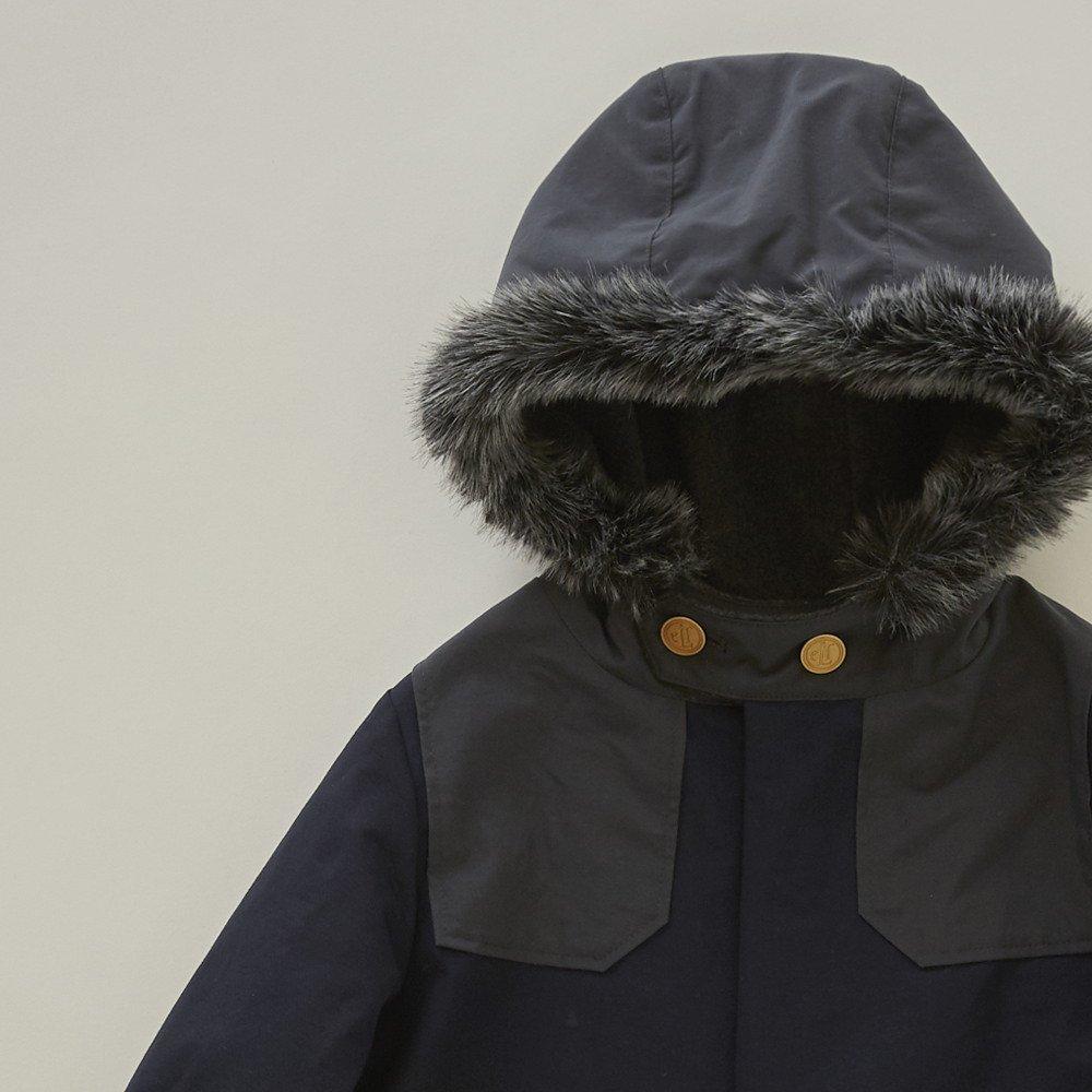 【入荷前ご予約販売】【9月末入荷予定】high-lander coat navy img1