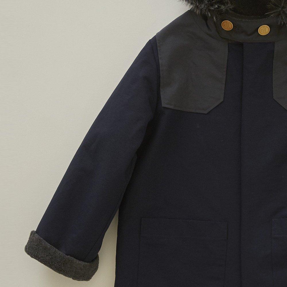 【入荷前ご予約販売】【9月末入荷予定】high-lander coat navy img2