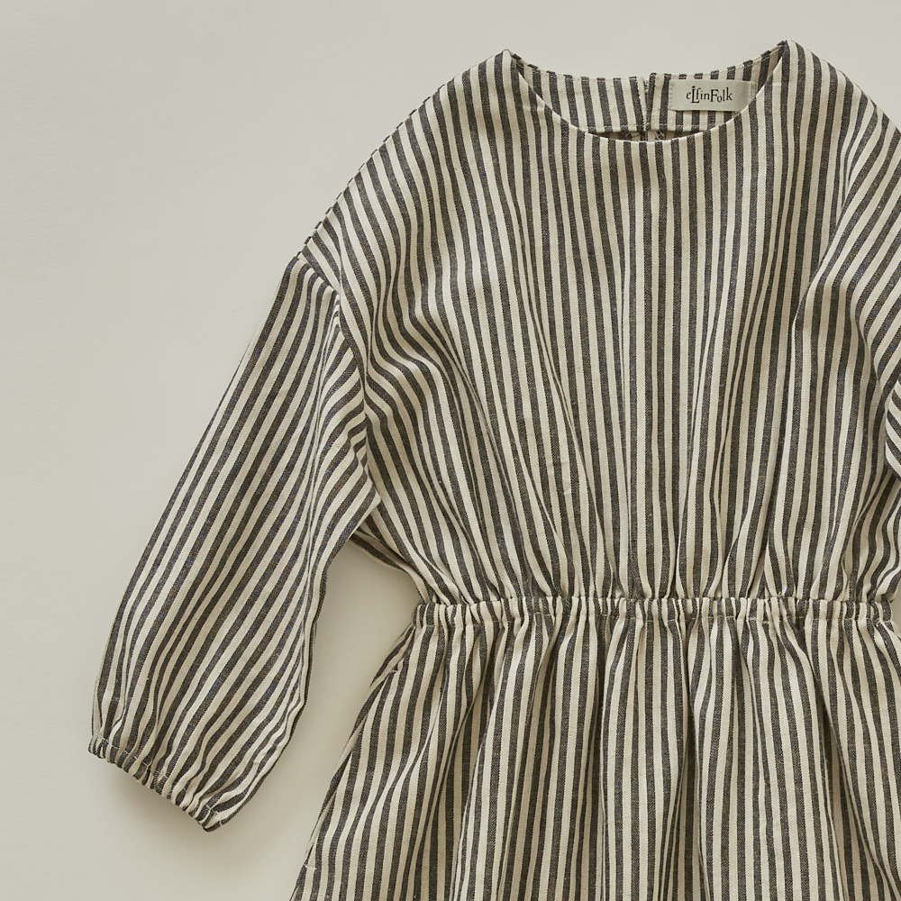 stripe linen dress img1