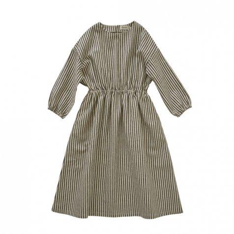 【WINTER SALE 20%OFF】stripe linen dress