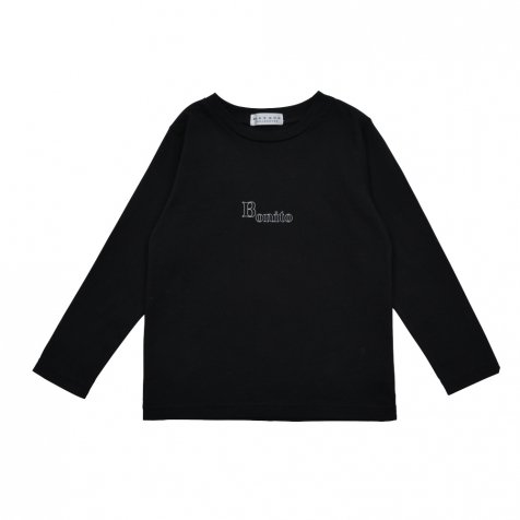 【WINTER SALE 20%OFF】Long Sleeve Tee Shirt Bonito Black