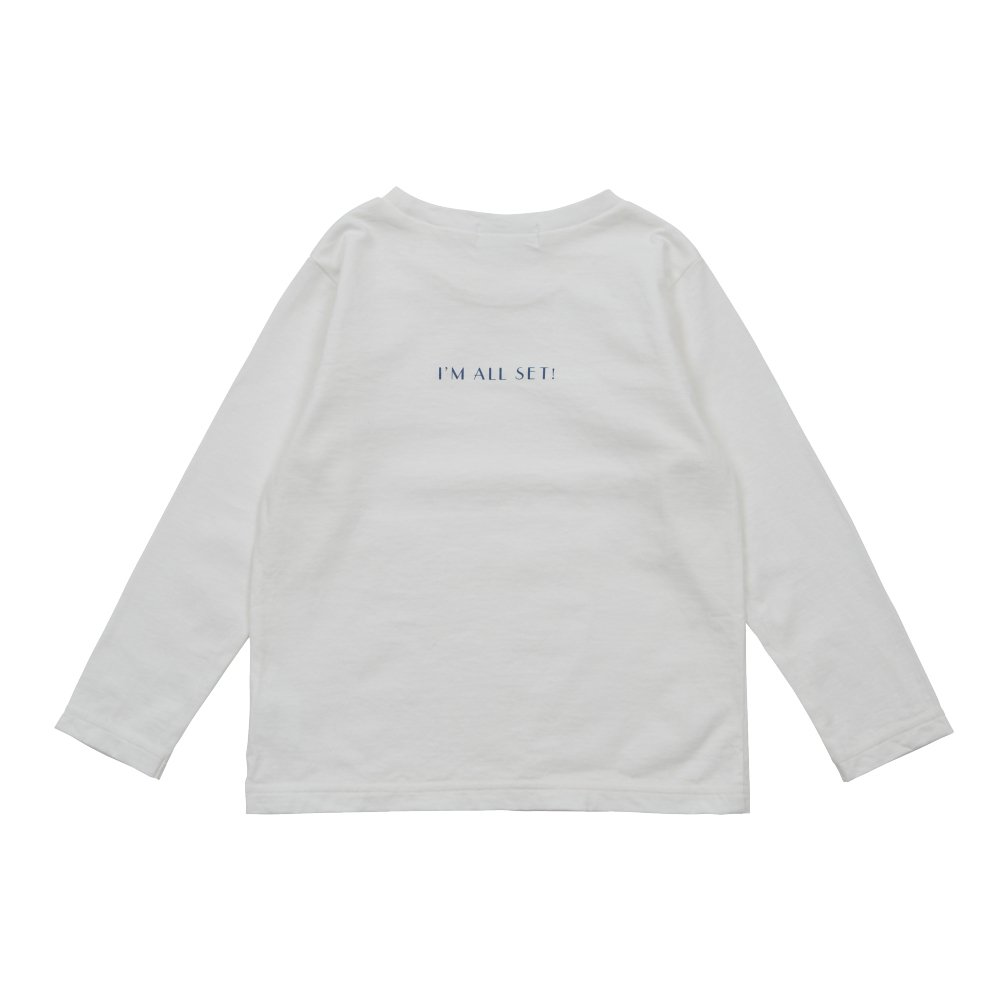 Long Sleeve Tee Shirt I'm all set White img