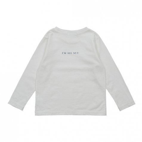 【WINTER SALE 20%OFF】Long Sleeve Tee Shirt I'm all set White