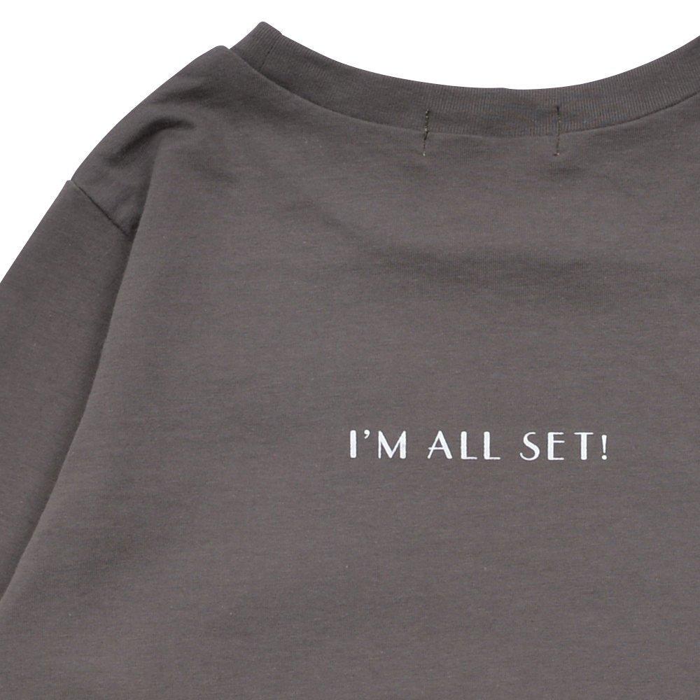 Long Sleeve Tee Shirt I'm all set Grey img2