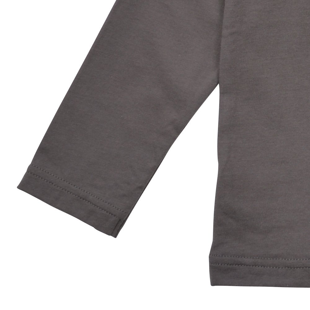 Long Sleeve Tee Shirt I'm all set Grey img3