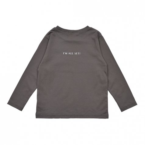 【WINTER SALE 20%OFF】Long Sleeve Tee Shirt I'm all set Grey