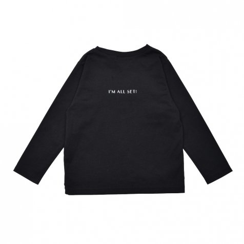 【WINTER SALE 20%OFF】Long Sleeve Tee Shirt I'm all set Black