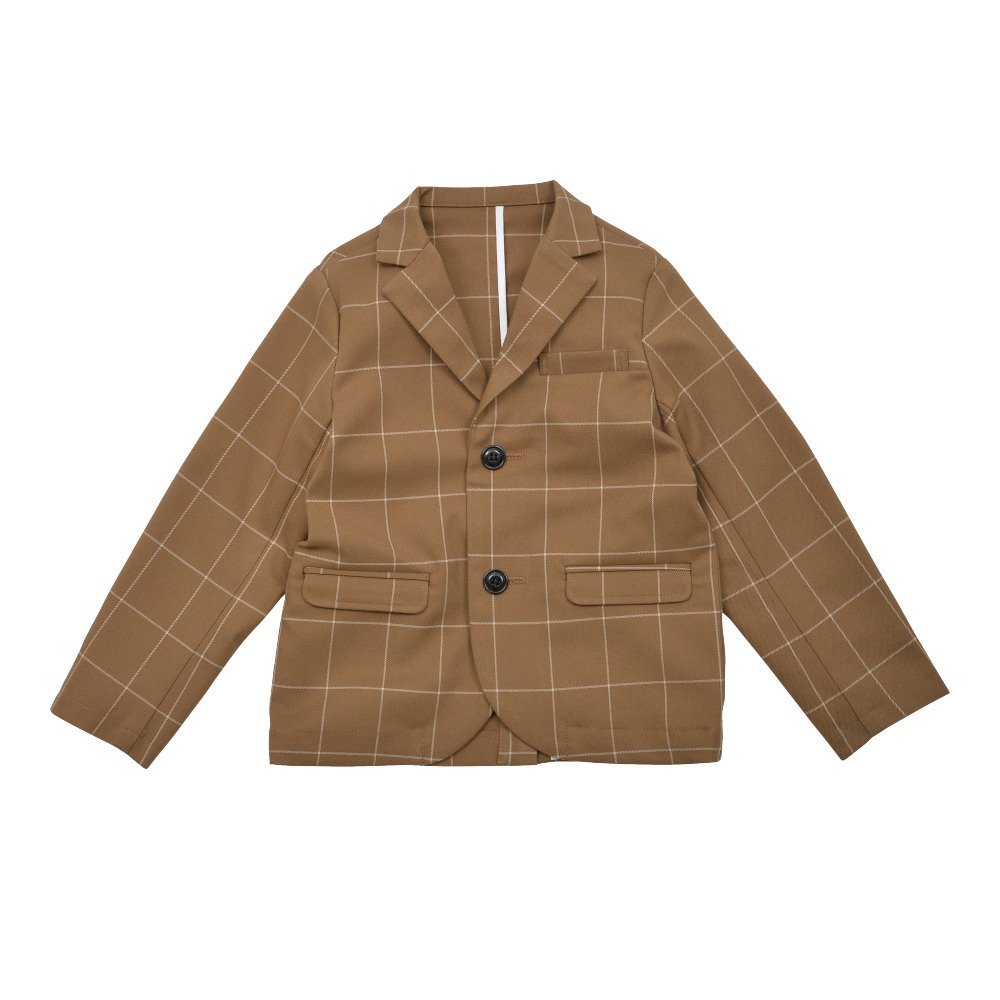 【30%OFF→40%OFF】Suit Jacket camel / white plaid img