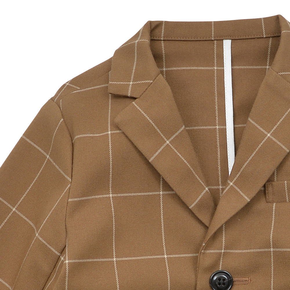 【30%OFF→40%OFF】Suit Jacket camel / white plaid img2